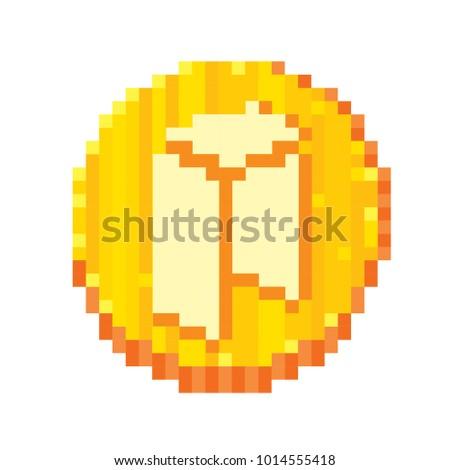 8 Bit Stock Images Royalty Free Vectors Shutterstock Cryptocurrency Pixel