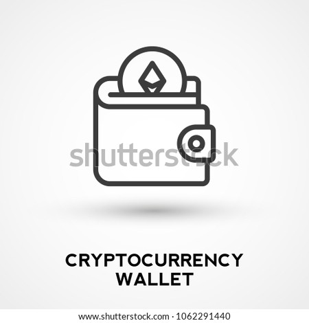 Cryptocurrency Wallet Icon Stock Vector 1062291440