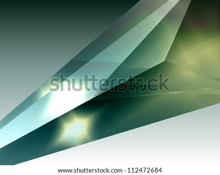 Crystal. Abstract structure background. - stock vector