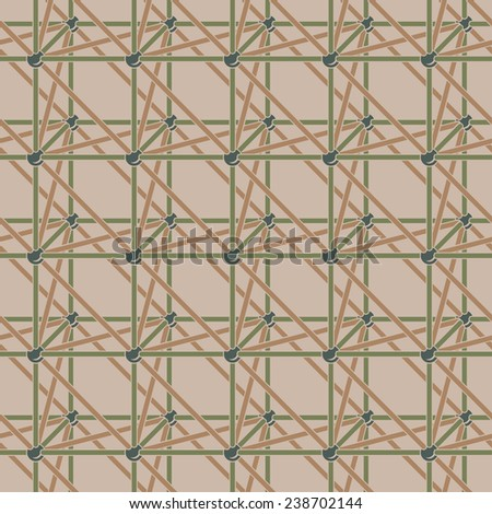 Crystal atomic lattice vector seamless pattern background