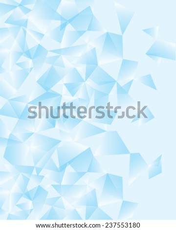 crystal background  - stock vector