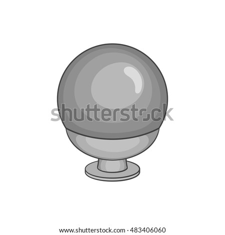 Crystal ball icon in black monochrome style isolated on white background. Tricks symbol vector illustration
