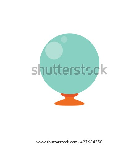 Crystal Ball isolated on white background , flat design