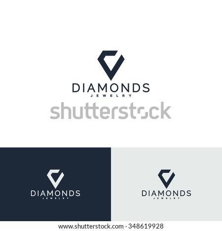 Crystal, diamond. Jewelry symbol (2) - stock vector