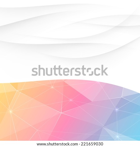 Crystal swoosh wave abstract bright template. Vector illustration - stock vector