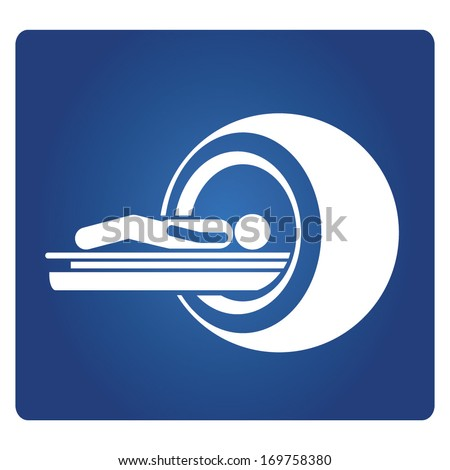 CT Scan sign - stock vector