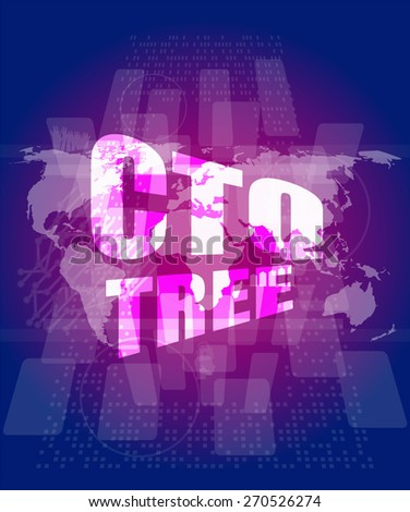 ctq tree word on digital touch screen, vector business template, charts, graphs, presentation, web design scheme, business vector infographics - stock vector