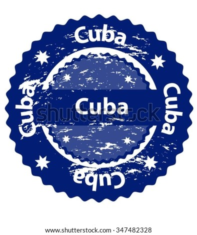Cuba Country Grunge Stamp - stock vector