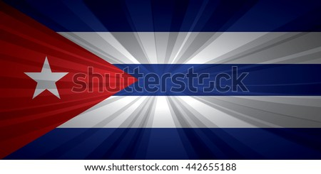 Cuba flag vector illustration.