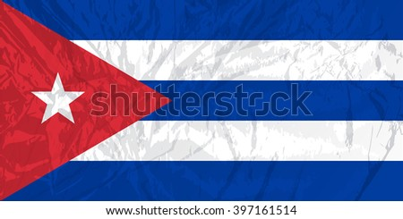 Cuba map with grunge texture