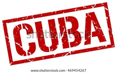 Cuba stamp. red square Cuba grunge stamp on white background. Cuba