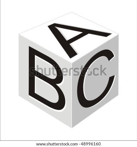 Cube - stock vector