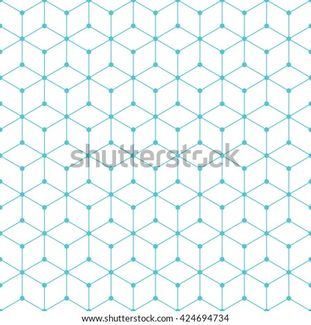 Cube and dot pattern background. Vintage retro vector design element. - stock vector