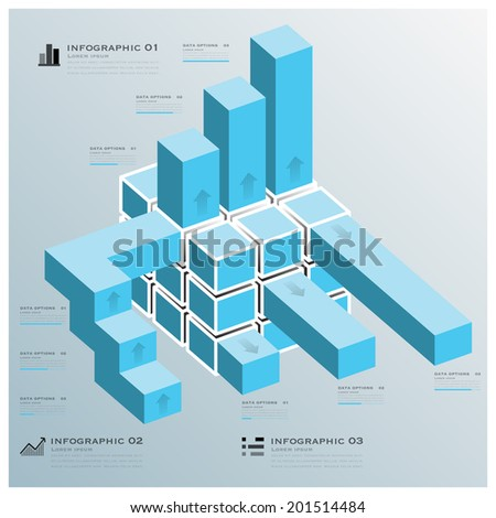 Cube Bar Business Infographic Design Template
