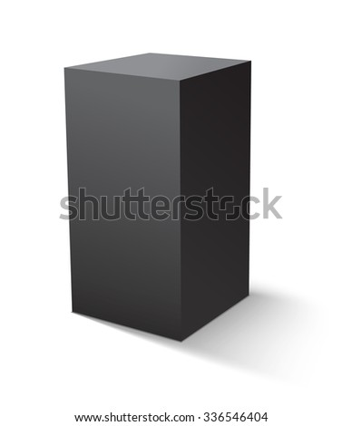 Cube black icon. Template for your design. Vector illustration.