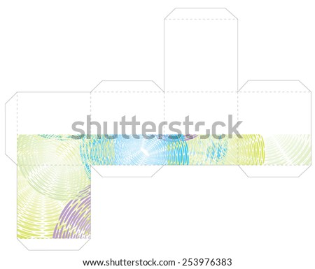 Cube Box Template Stock Vector 253976383 - Shutterstock