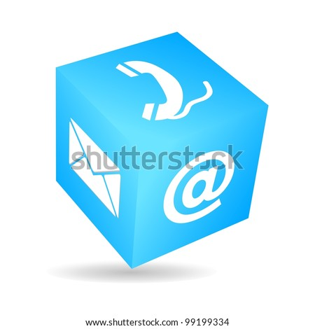 Cube connection - stock vector