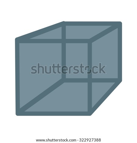 Cube, cuboid, mathematics icon vector image. Can also be used for shapes and geometry. Suitable for use on web apps, mobile apps and print media.