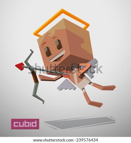 Cube cupid. vector - stock vector