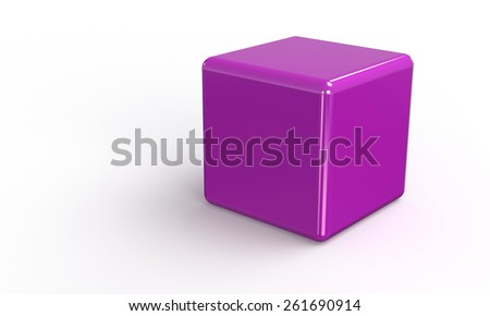 Cube 3d vector model isolated on white - stock vector