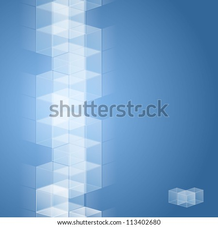 Cube design for use as a background in eps10 - stock vector