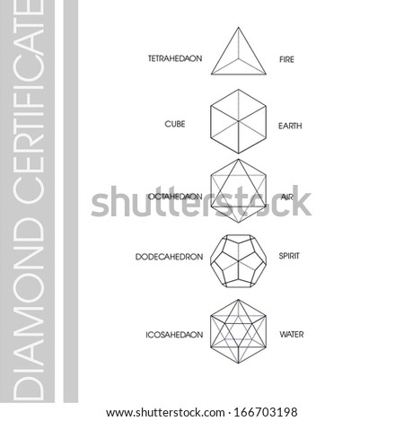 Cube diamond shape - stock vector