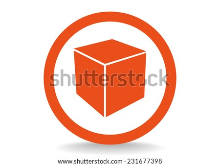 cube icon vector - stock vector
