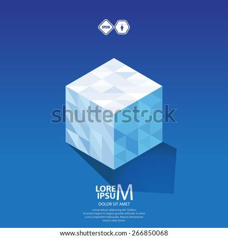 Cube logo, logic icon. Vector - stock vector
