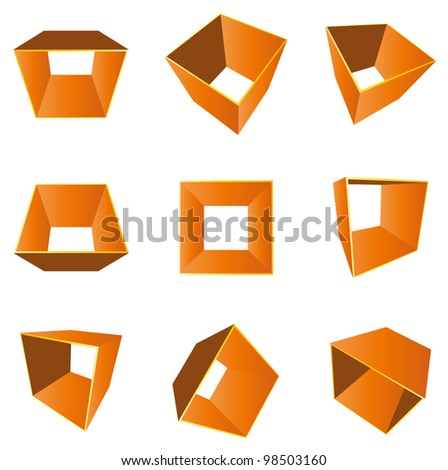 Cube shape (Vector) - stock vector