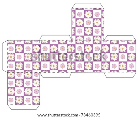 Cube Template Floral Stock Photo Photo Vector Illustration