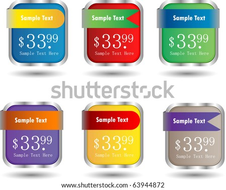 cube web sale banners - stock vector