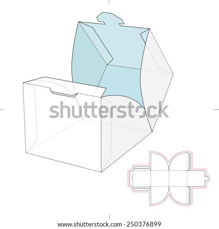 Cube Wrap Box Die Cut Template Stock Vector 250376899 - Shutterstock