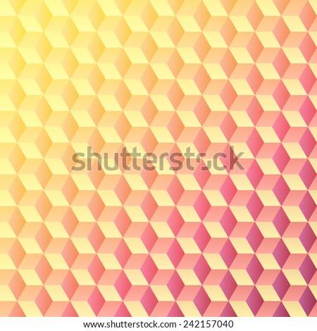 Cubes - background pattern, illustration - stock vector