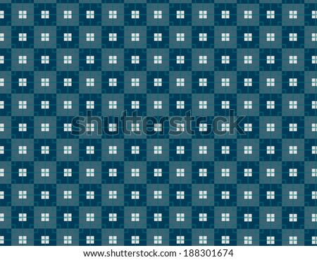 Cubes geometric pattern with blue, blue green, and gray