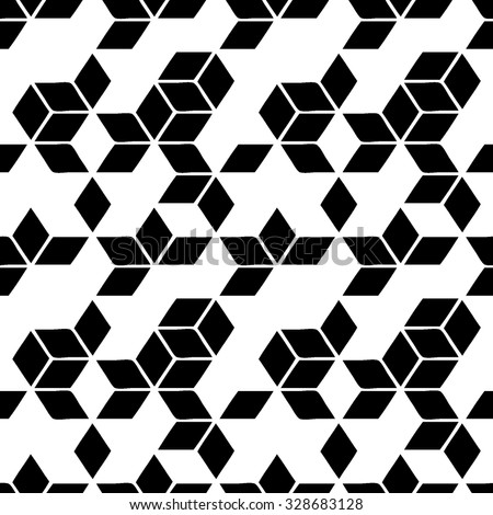 cubes seamless pattern - stock vector