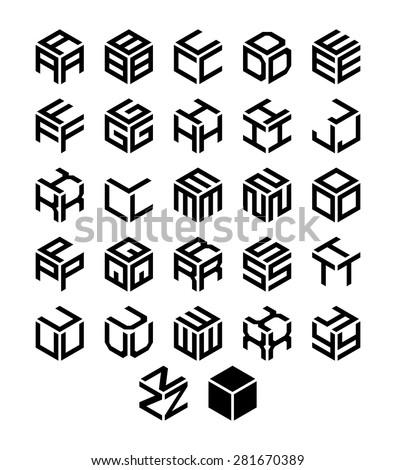 cube vector font