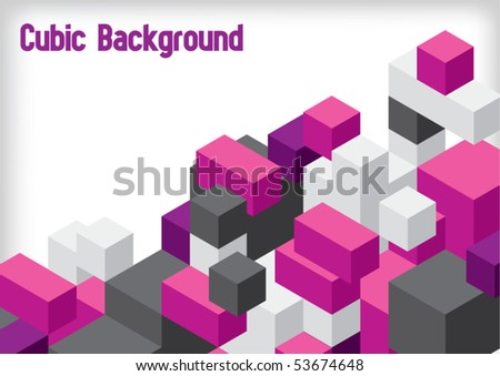 Cubic Background - stock vector