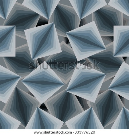 Cubic seamless pattern. 3d background of squares. Texture to fabric. - stock vector