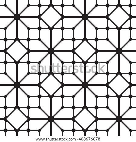 Cubic simless pattern Seamless lattice background, l - stock vector