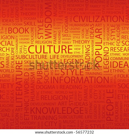 CULTURE. Word cloud concept illustration of  association terms. - stock vector