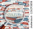CULTURE. Word collage. Vector illustration. - stock photo