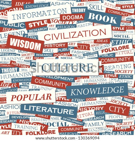 CULTURE. Word collage. Vector illustration.