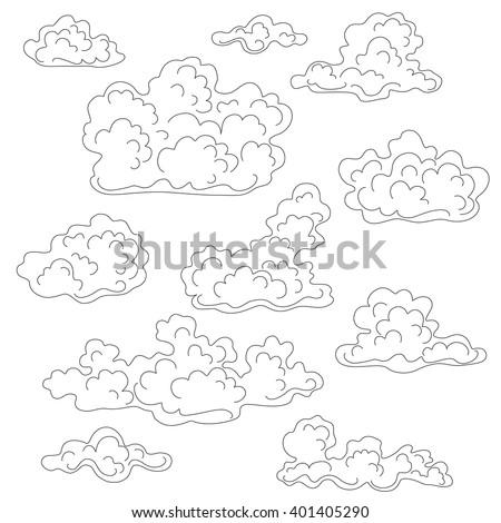 cumulus cloud coloring pages - photo#11