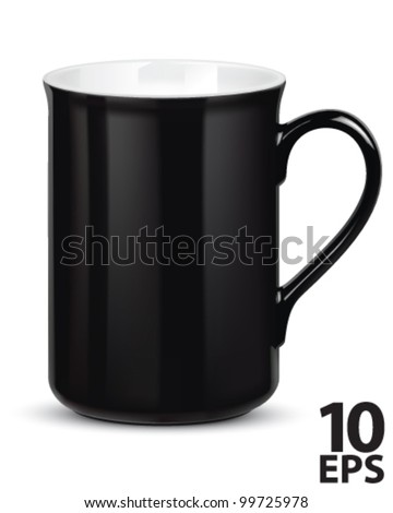 Cup coffee isolated on white. Vector illustration - stock vector