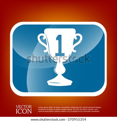 cup for first place icon - stock vector