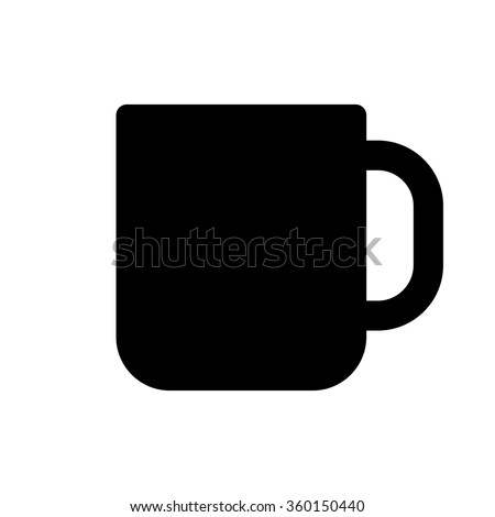 Cup icon, minimal flat design style. Coffee mug vector illustration - stock vector