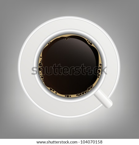 cup of coffee icon vector illustration - stock vector