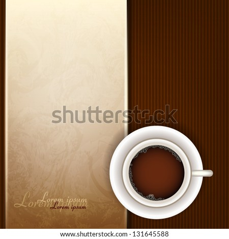 Cup of coffee, top view - stock vector