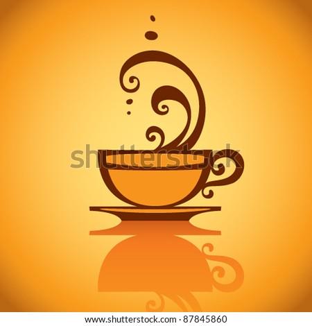 Cup of coffee, vector. - stock vector