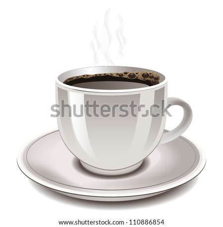 Cup of coffee, vector illustration. - stock vector